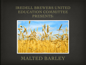 Malted Barley Overview 2.001